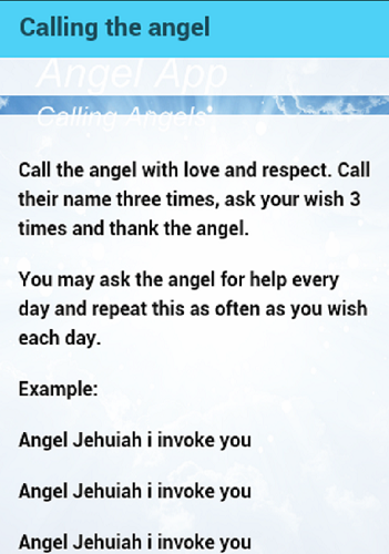 How to contact an angel